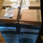 Коробка с автокреслом Recaro Кликните для увеличения картинки.