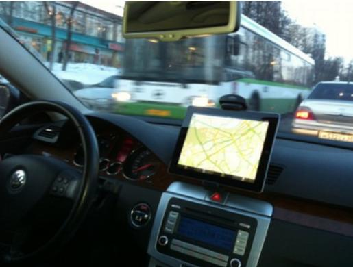 Фотография. Яндекс Навигатор в машине