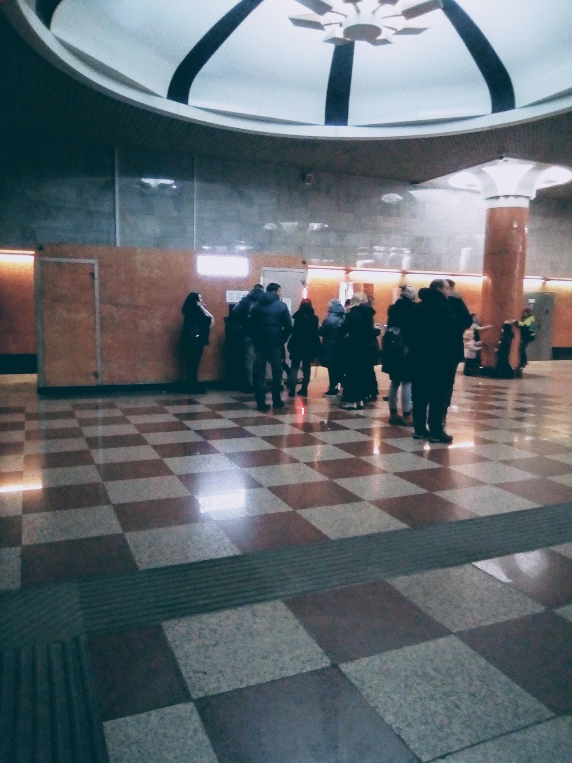 Фотография очереди в туалет 1 января метро Парк Победы